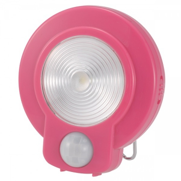 LEDセンサーライト 人感・明暗 ピンク 白色LED [品番]07-9756