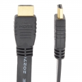HDMI フラットケーブル 1m 黒 [品番]05-0273
