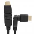 HDMIケーブル Wスイング 1m [品番]05-0291