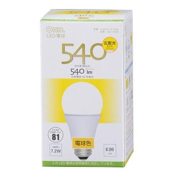 LED電球 E26 電球色 広配光 密閉器具対応 [品番]06-1483