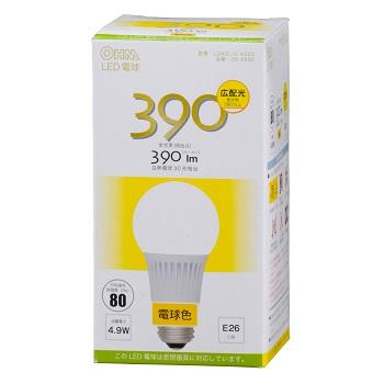 LED電球 E26 電球色 広配光 密閉器具対応 [品番]06-2892