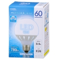 LED電球 ボール形 60形相当 E26 昼光色 [品番]06-1614
