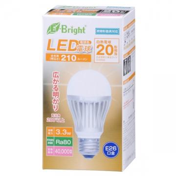 LED電球 E26 20形相当 電球色 [品番]06-2927