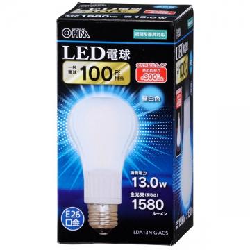 LED電球 100W相当 E26 昼白色 全方向 密閉器具対応 [品番]06-3086