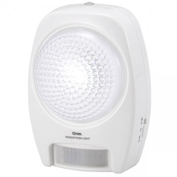 LEDセンサープッシュライト 人感・明暗 白色LED [品番]07-8047