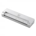 LEDセンサーライト 人感・明暗 シルバー 白色LED [品番]07-9758