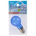 昼光ミニクリプトン球 40形相当 PS-35 E17 フロスト [品番]04-6622