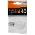 ミニクリプトン球 40形相当 PS-35 E17 ホワイト [品番]06-2964