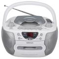 AudioComm CDラジカセ シルバー [品番]09-0365