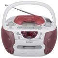 AudioComm CDラジカセ ピンク [品番]09-0367
