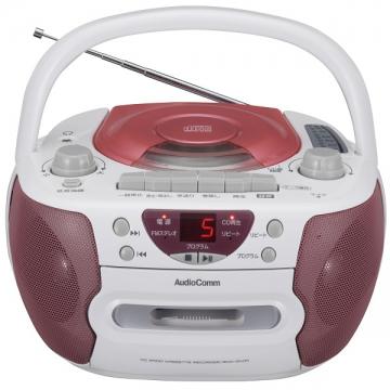 CDラジオカセットレコーダー ピンク [品番]09-0367