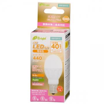 LED電球 小形 40形相当 E17 電球色 [品番]06-2874