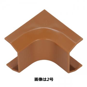 モール用パーツ 入隅 2号 茶 [品番]09-2223