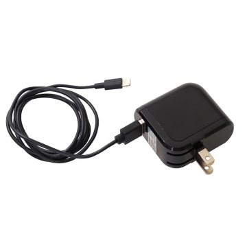 AC充電器+ライトニングケーブル 1m 黒 [品番]01-7023