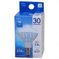 LED電球 ミニレフランプ形 30形相当 E17 昼光色 [品番]06-0202