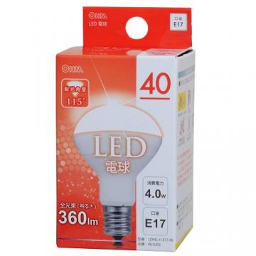 LED電球 ミニレフランプ形 40形相当 E17 電球色 [品番]06-0203