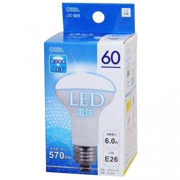 LED電球 レフランプ形 60形相当 E26 昼光色 [品番]06-0206