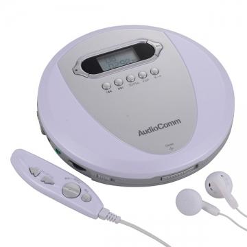 AudioComm ポータブルCDプレーヤー [品番]07-3866