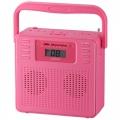 AudioComm ステレオCDラジオ ピンク [品番]07-8332