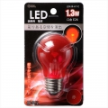 LED電球装飾用/PS/E26/1.3W/クリア赤色 [品番]06-3212