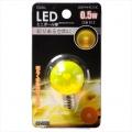 LED電球 装飾用 ミニボール E12 イエロー [品番]06-3222
