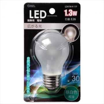 LED電球装飾用 PS/E26/1.3W/30lm/フロスト昼白色 [品番]06-3233