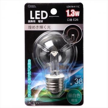 LED電球装飾用 PS/E26/1.3W/38lm/クリア昼白色 [品番]06-3235