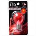 LED電球 装飾用 ミニランプ E17 レッド [品番]06-3252