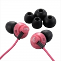 AudioComm ステレオイヤホン 重低音EX-BASS搭載 ピンク [品番]03-1639