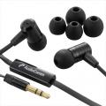AudioComm ステレオイヤホン 音量コントローラー付 ブラック [品番]03-1652