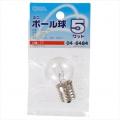 ミニボール球 G30型 E17/5W クリア [品番]04-6484
