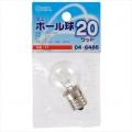 ミニボール球 G30 E17/20W クリア [品番]04-6486