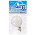 ミニボール球 G40 E12/10W ホワイト [品番]04-9071