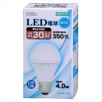 LED電球 30形相当 E26 昼白色 [品番]06-3138