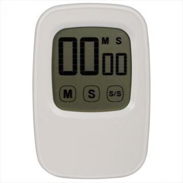 液晶タッチパネル式 デジタルタイマー ホワイト [品番]07-4699