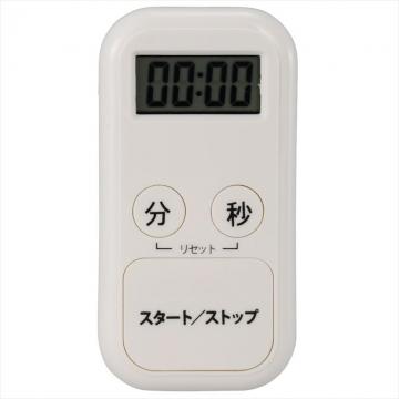 ポケットサイズ コンパクト デジタルタイマー ホワイト [品番]07-9893