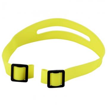 ヘルメット用シリコンバンド 黄 [品番]08-0016