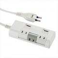 独立回転タップ USBポート付 3個口 1.5m [品番]00-1252