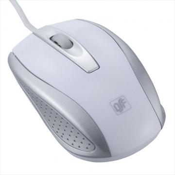光学式マウス 快適スムーズ Mサイズ ホワイト [品番]01-3555