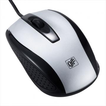 光学式マウス 快適スムーズ Mサイズ シルバー [品番]01-3556