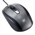 光学式マウス 快適スムーズ Mサイズ ブラック [品番]01-3557