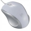 ブルーLEDマウス Sサイズ ホワイト [品番]01-3558