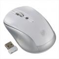 ブルーLED ワイヤレスマウス ホワイト [品番]01-3578