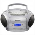 AudioComm CDラジカセ シルバー [品番]07-8376