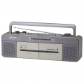 AudioComm AM/FM ステレオ ダブルラジオカセットレコーダー [品番]07-9726