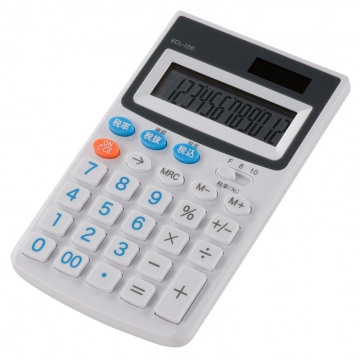 税率切り替え ハンディ電卓 [品番]07-9905