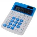 カラー 小型電卓 12桁 ブルー [品番]07-9916