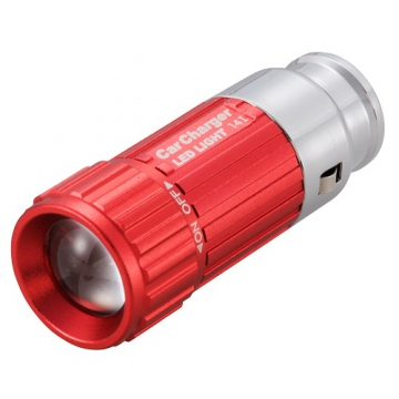 LEDライトミニ 車で充電 レッド [品番]07-8341