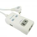 USB 2ポート 2口タップ 1.5m [品番]00-1930