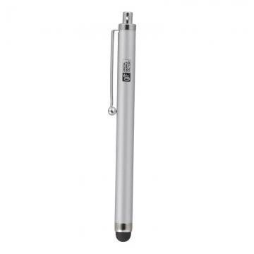 スマートフォン・端末タブレット用タッチペン シンプル シルバー [品番]01-3477